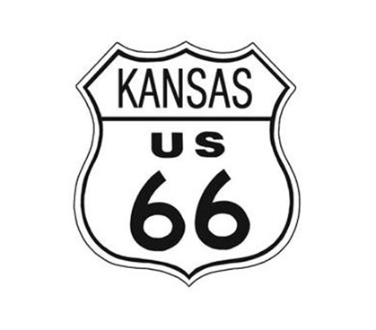 Cool Items For College Students - Route 66 Kansas Tin Sign - Buy Dorm Products