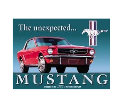 Best Supplies For College - Vintage Mustang Tin Sign - Decorate Your Dorm Room
