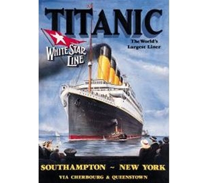 Best Supplies For College - Titanic Tin Sign - Decor For Dorm Rooms