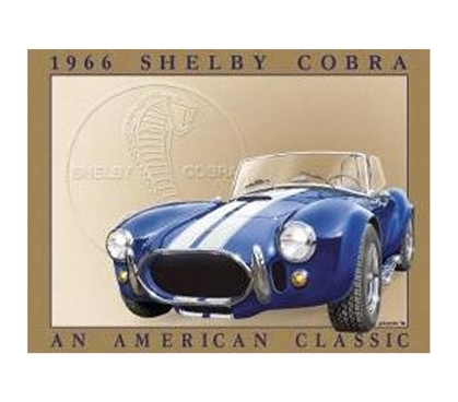 Fun Dorm Stuff - Shelby Cobra Tin Sign - Perfect Dorm Decorations