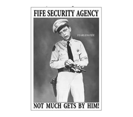 Buy Supplies For Dorms - Fife Security Tin Sign - Shop For College
