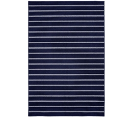 Classic Stripes College Rug - Navy Dorm Essentials Dorm Room Decorations
