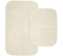 Pin Dot Bath Mat Set - Ivory (2 Piece Set) Dorm Necessities for Suite Style Dorm Rooms