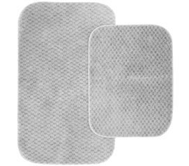Pin Dot Bath Mat Set - Platinum Gray Dorm Essentials College Supplies Dorm Room Decor