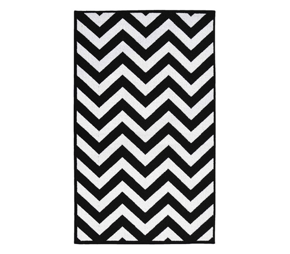 Black And White Dorm Decorating Chevron College Rug