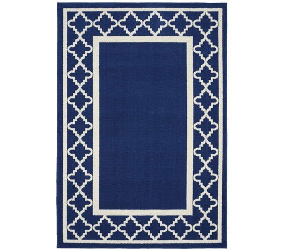Moroccan Frame Dorm Rug   Indigo And Ivory Part 44