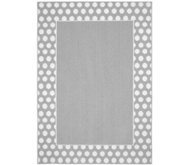 Polka Dot Frame Dorm Rug   Silver And White College Rug Dorm Room Decor Part 62