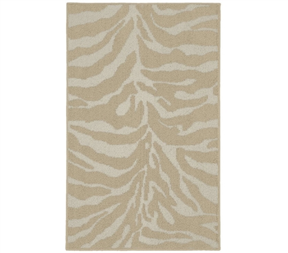 Safari Dorm Rug - Tan and Ivory