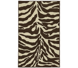 Safari Dorm Rug - Brown and Ivory