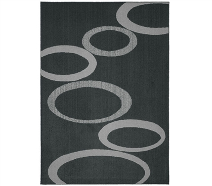 Soho Dorm Rug - Gray and Silver - 5' x 7'