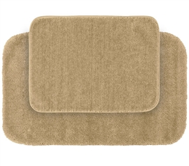 Classic Bath Mat Set - Beige (2 Piece Set) Dorm Essentials Dorm Necessities Dorm Room Decor