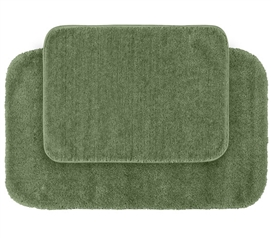 Classic Bath Mat Set - Green (2 Piece Set) Dorm Essentials for Suite Style Dorm Rooms