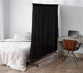 Don't Look At Me - Privacy Room Divider - Basics Extendable - Black Frame