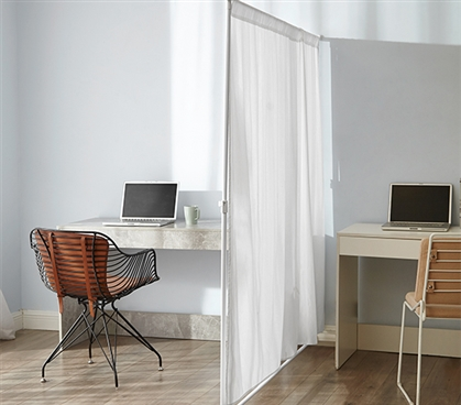 Don't Look At Me - Privacy Room Divider - Basics Extendable - White Frame
