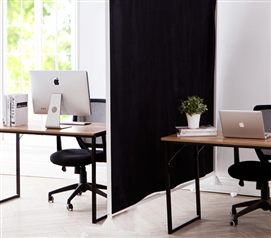 Privacy Room Divider Black Fabric