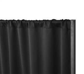 Privacy Room Divider Blackout Fabric - Blackout Black (Fabric ONLY)