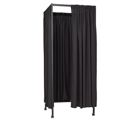 Must Have College Privacy Supplies One of a Kind Don't Look At Me Black Metal Portable Changing Room Divider For College Dorm Rooms