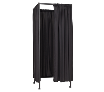 Must Have College Privacy Supplies One of a Kind Don't Look At Me®  Black Metal Portable Changing Room Divider For College Dorm Rooms