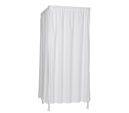 Unique Portable Changing Room Divider For Dorm Room Don't Look At Me White Frame College Privacy Supplies