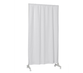 Don't Look At Me - Partial Room Divider - White Frame