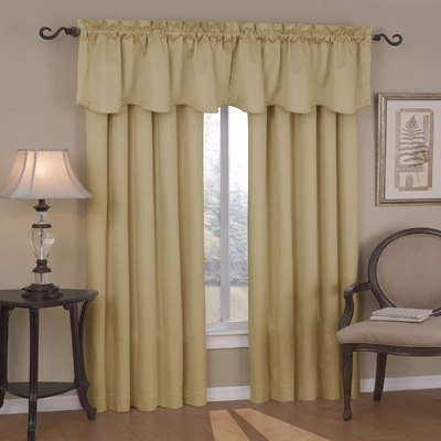 College Blackout Curtain   Sunblock Drape (Gold)
