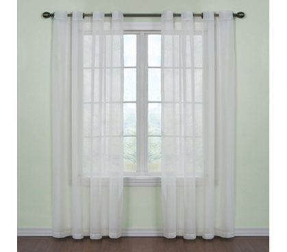 Fresh Scent College Curtains - White - Elegant Dorm Room Decor!