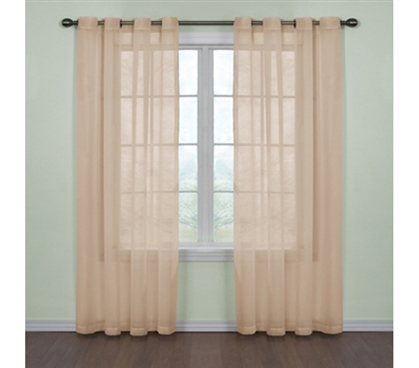 Fresh Scent College Curtains Tan Dorm Decor College Room Decorations Cheap Windows Light