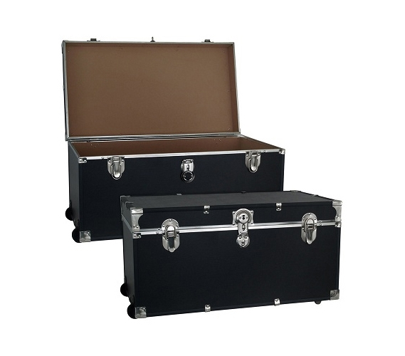 College Dorm Room Trooper Trunk   With Wheels