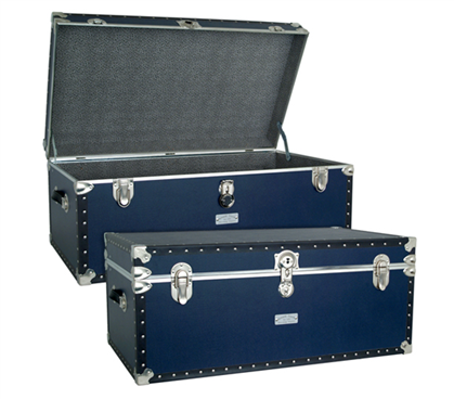 USA Made Oversized Steamer Trunk - Navy