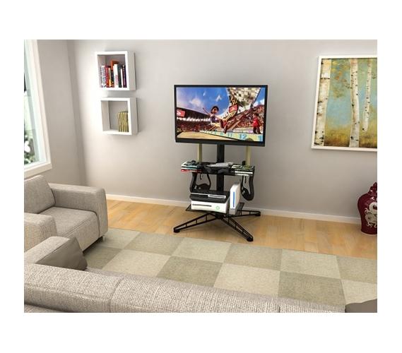 Spyder Tv Amp Gaming Stand Black Video Games Organizer