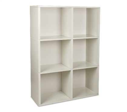 College Bookcase Black Way Basics Dorm room supplies