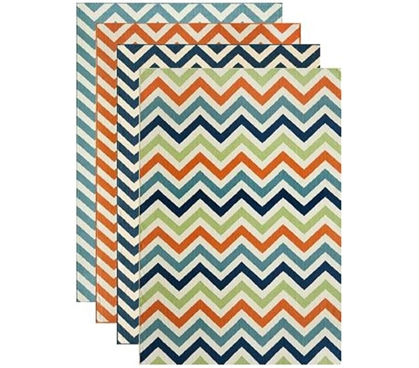 Adds Plenty Of Color - Chevron Spree Dorm Rug - Great Dorm Decoration