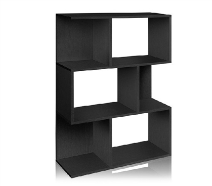College Book Tower Black - Way Basics Dorm - Essential Dorm Storage