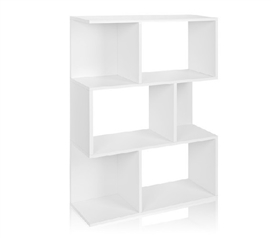 Keeps Textbooks Organized - College Book Tower White - Way Basics Dorm - Useful Dorm Storage