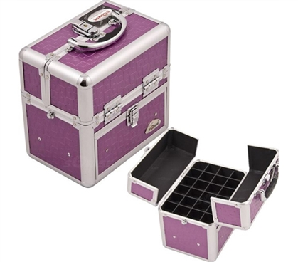 College Girl Cosmetic Case Purple Beauty Nail Case Dorm