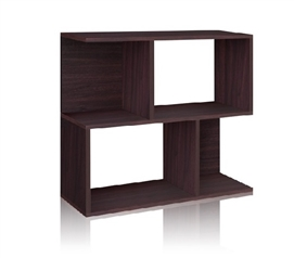 Double Stack Bookshelf Espresso- Way Basics Dorm - Great Bookcase For College