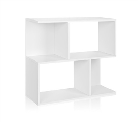 Great Dorm Storage - Double Stack Bookshelf White - Way Basics Dorm - Supplies For College