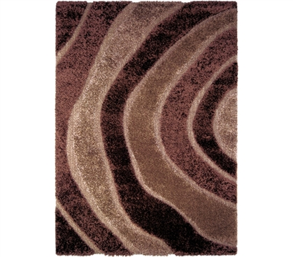 Decorate Your Dorm - Tranquil College Rug - Brown - Brings Comfort And Color