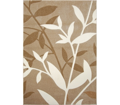 Brings Comfort To Hard Dorm Floors - Verano College Rug - Beige - Cool Dorm Decoration