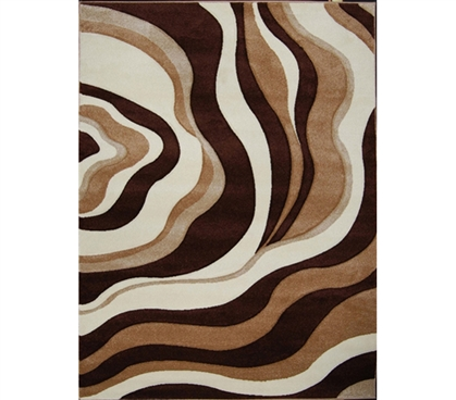 Adds To Decor - Verano College Rug - Brown - Cheap Dorm Rug