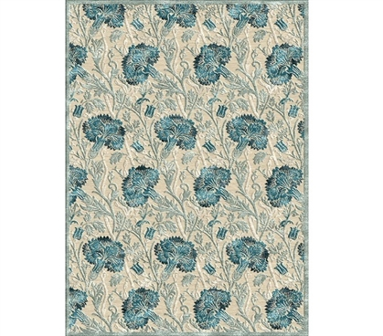 Dorm Room Decorations Kaylee Dorm Rug - Cream and Blue