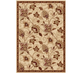 Chelsea Dorm Rug - Ivory and Gold Dorm Necessities Dorm Area Rug