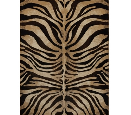 Dorm Area Rug Hypnotize Dorm Rug - Black and Ivory Dorm Room Decorations