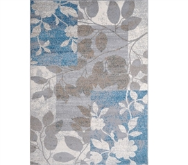 Dorm Area Rug College Supplies Elle Dorm Rug - Beige and Blue