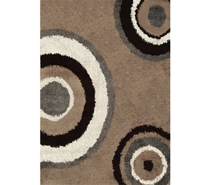 College Rugs Are Dorm Must Haves - Symphony College Rug - Beige Gray - Cover Your Dorm Floor