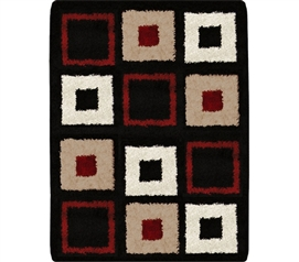 Symphony College Rug - Black Red - Must Have College Supply