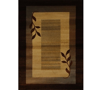 Serenity Leaf College Dorm Room Floor Rug Designer Dorm Accessories