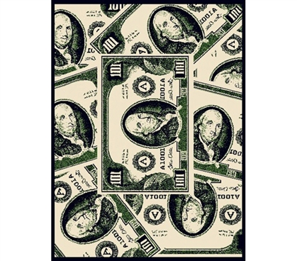 Greed is Good College Dorm Size Rug Decor Supplies