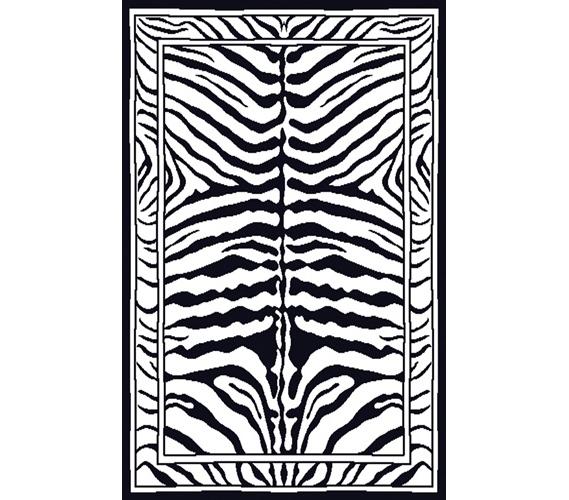 Black White Zebra Rug