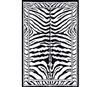 Black Amp White Zebra Print Decorative Dorm Rug Designer